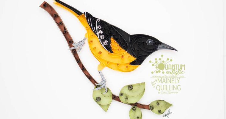 Paper Quilled Baltimore Oriole