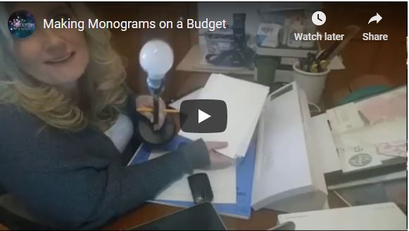Making Monograms On A Budget