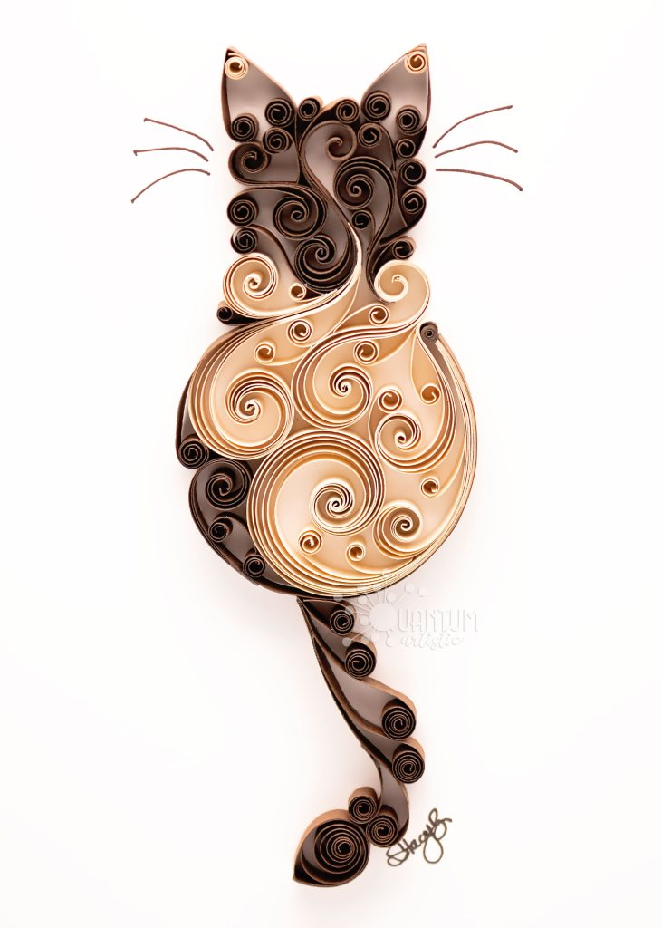 New Siamese Scrollwork Cats