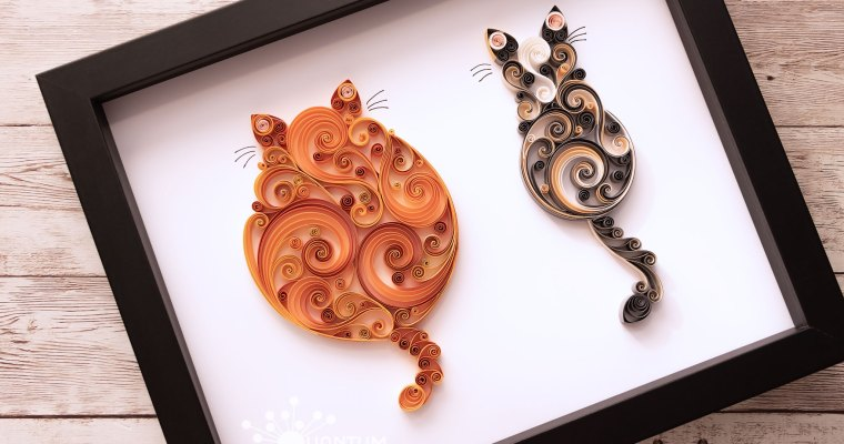Double Mixed Quilled Cats