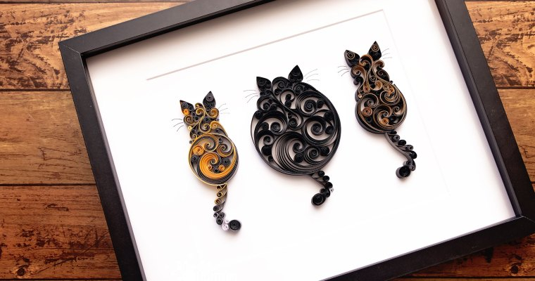 Triple Scrollwork Cats | 2021