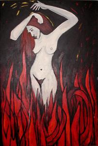 Burning Original art by Esti Mayer
