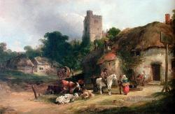 7-The-Plough-Inn-rural-scenes-William-Shayer-Snr