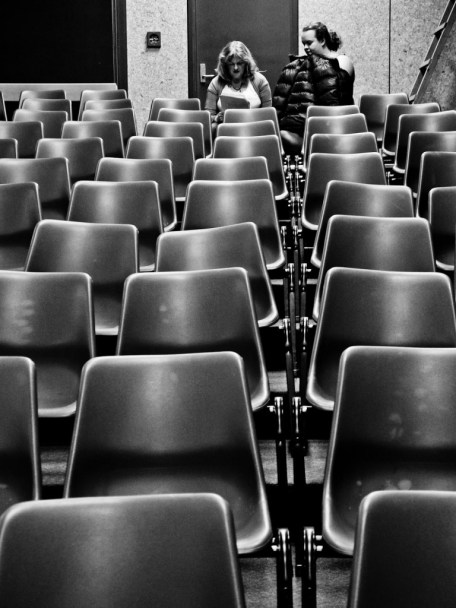 Dealing with vectors and matrices is like dealing with many chairs simultaneously. Some patterns and operations are easier and faster than others. (Photo: Luis, click to enlarge).