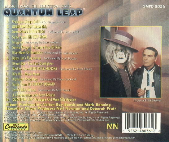 Quantum Leap Soundtrack  Compact Disc  Music from the