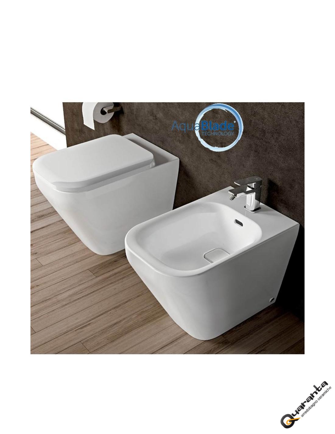 sanitari quaranta ceramiche vaso bidet coprivaso aquablade