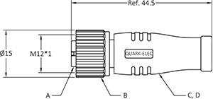 QK-AS2K-T NMEA2000 Backbone Terminators (Male/Female
