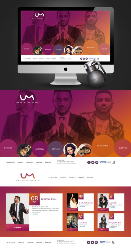 Site UM Entretenimento