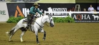 Wellington Jesus Teixeira and SJ Rodopio, a Brazilian Criollo grey gelding, scored a 217 for the Brazilian team.