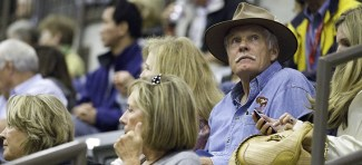 Ted Turner attended the FEI World Championship Team Reining competition.