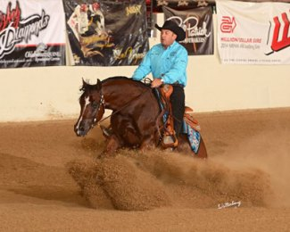 Half-Arabian-TS-Mae-Gossip-and-Andrea-Fappani-won-the-Scottsdale-HA-Reining-Futurity-in-February