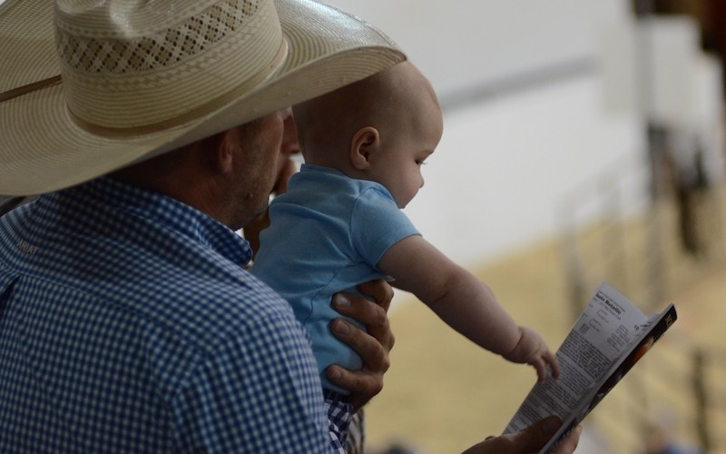 Baby looking at sale guide