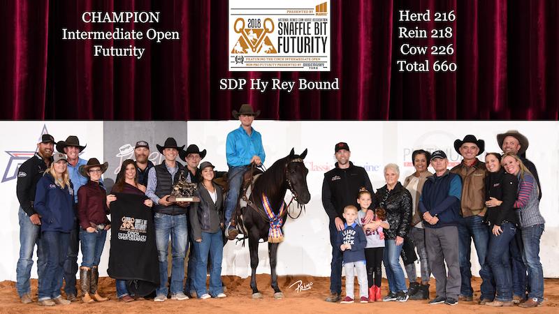 Hy Rey Bound intermediate champion award