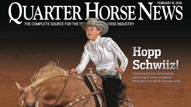 Quarter Horse News February 15, 2019, cover