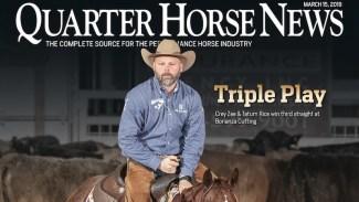 Quarter Horse News magazine cover March 15, 2019