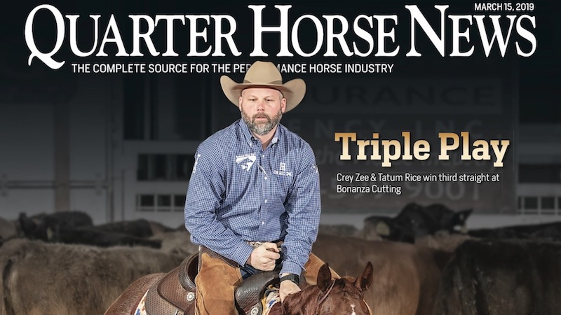 Quarter Horse News magazine cover March 15, 2019
