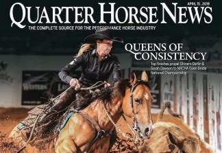 Quarter Horse News cover April 15, 2019