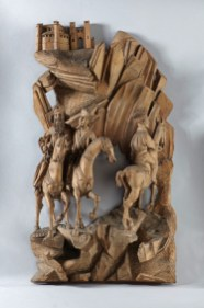 Zug der Heiligen Drei Könige, Oberrhein, Ende 15. Jh. Lindenholz, 60,5 x 33 x 12 cm Liebieghaus Skulpturensammlung, Frankfurt am Main Foto: Rühl & Bohrmann