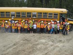 penticton-school-bus-field-trip-tree-planting-quastuco-silviculture
