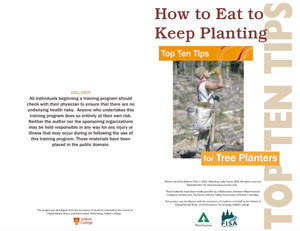 Top ten tips training guide for tree planters in Penticton.