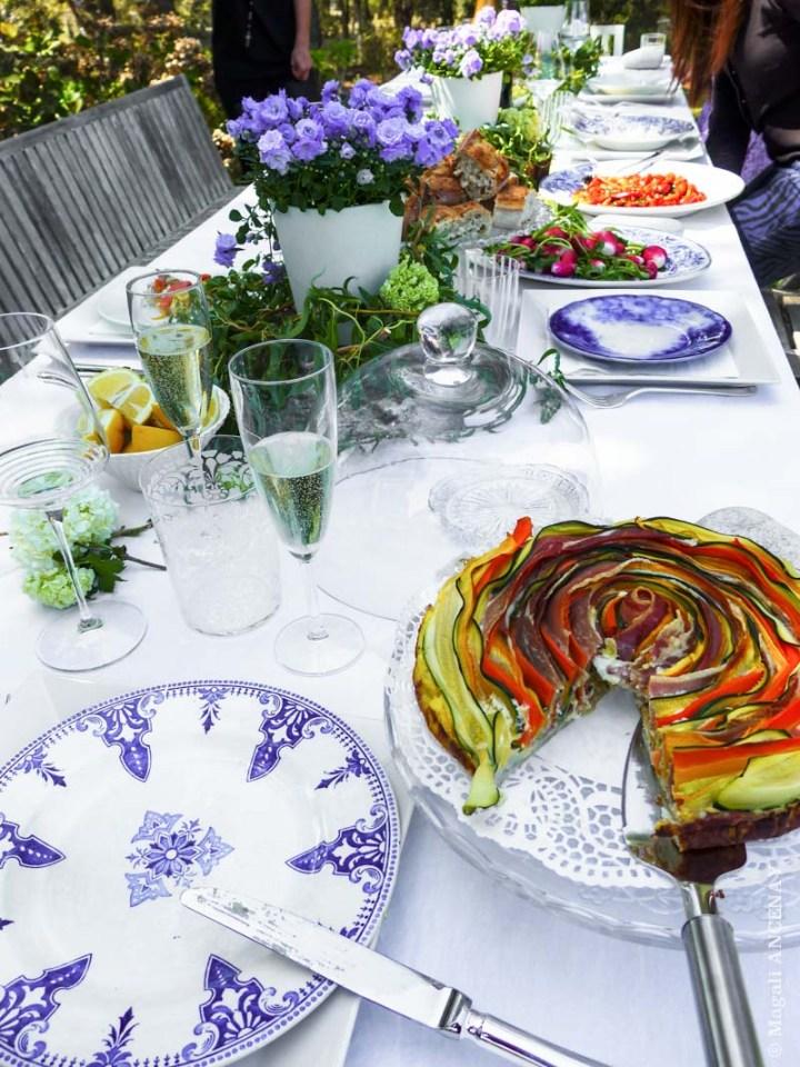 tarte aux légumes de printemps - quatre saisons au jardin