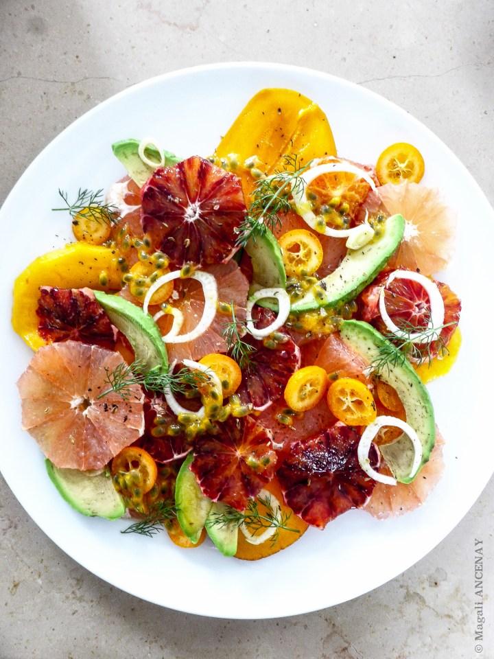 Salade agrumes avocat