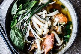 bouillon thaï aux champignons - quatre saisons au jardin