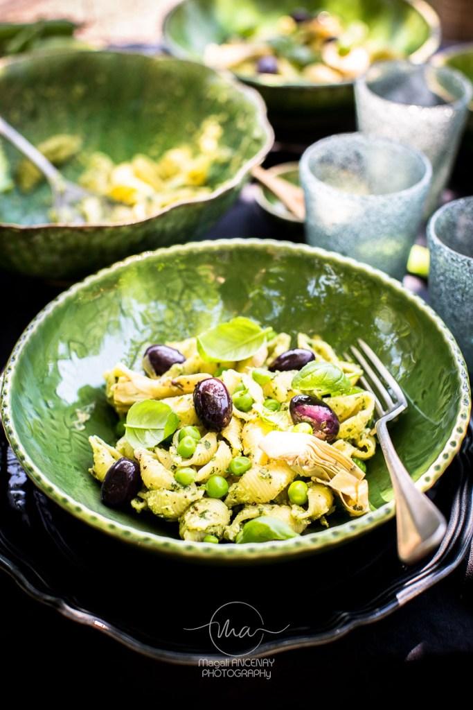 pâtes aux artichauts - Magali ANCENAY Photographe Culinaire