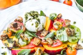 Salade Brugnons-Tomates - Magali ANCENAY photographe culinaire