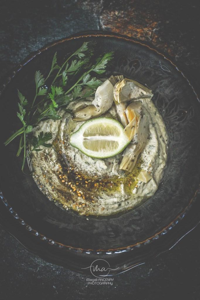 houmous d'artichaut- Magali ANCENAY Photographe Culinaire