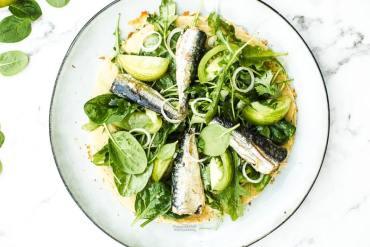 Pizza pois chiche, salsa verde et sardines Magali ANCENAY Photographe Culinaire
