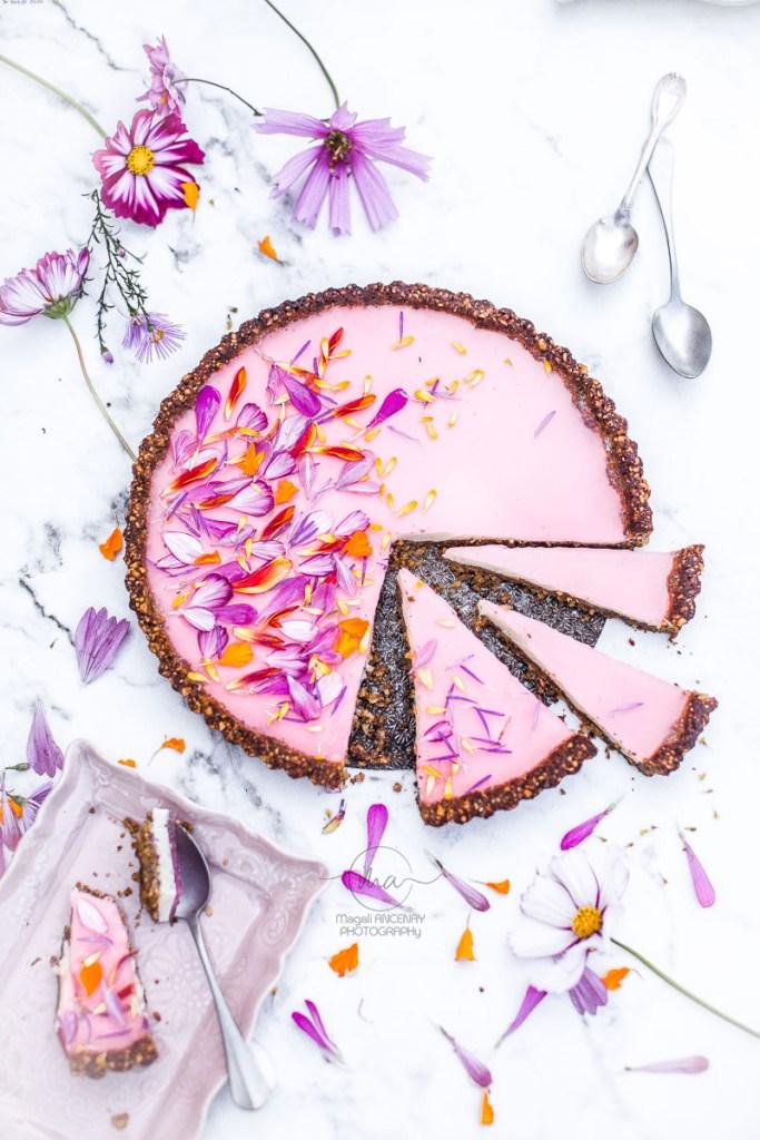 Tarte cheesecake sans gluten flowers Magali ANCENAY Photographe Culinaire