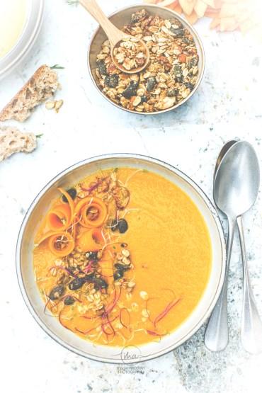 Soupe carottes orange cumin - Magali ANCENAY Photographe culinaire