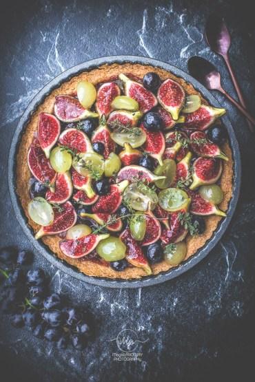 Tarte figues Raisins - Magali ANCENAY Photographe culinaire