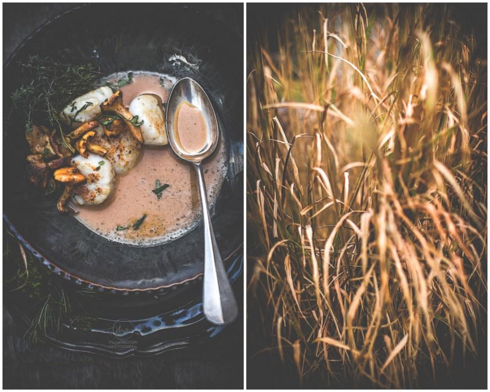Saint jacques et Tabac d'herbes - Magali ANCENAY Photographe Culinaire
