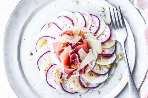 Radis et champignon en carpaccio - Magali ANCENAY PHOTOGRAPHE Culinaire