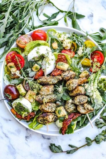 Salade césar poulet pistou - Magali ANCENAY