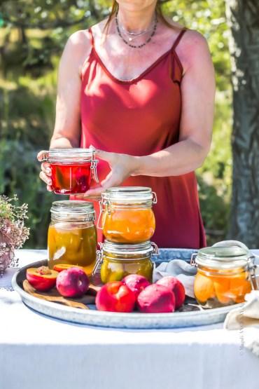 Fruits en conserves au naturel - Magali ANCENAY