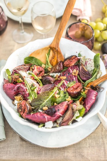 Salade figues, trévise Yotam Ottolenghi - Magali Ancenay