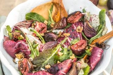 Salade de trévise, figues Yotam Ottolenghi