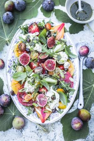 Salade tomate Mozzzarella Figues - Magali ANCENAY