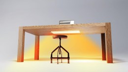 New 'under-desk' infrared heater enables 2-3 degree reduction in ambient temperature of offices