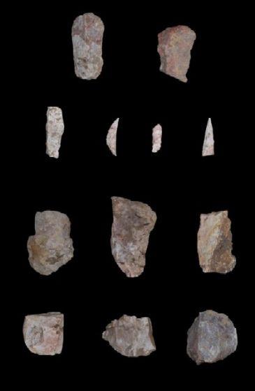 El hallazgo de industria lítica confirma la ocupación prehistórica del interior de Tarragona