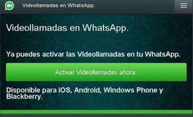 Alerta de fraude en whatsapp con una notificación de videollamadas