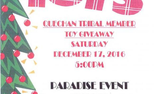 Christmas Toy Giveaway Fort Yuma Quechan Indian Tribe