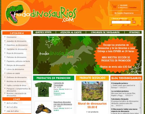 Tienda online-Dinosaurios