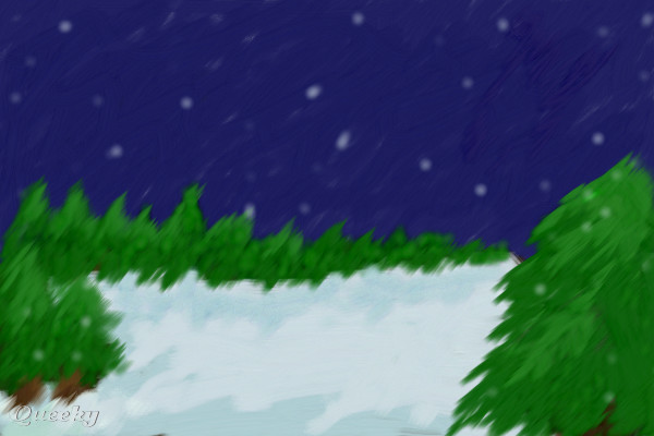 Tundra  a landscape Speedpaint drawing by TitusXarts