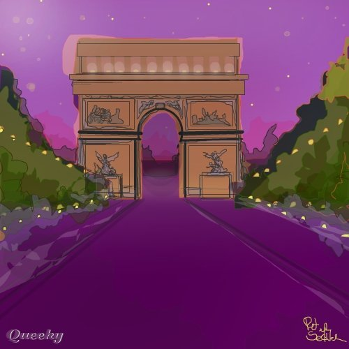 Champs elysees  a landscape Speedpaint drawing by
