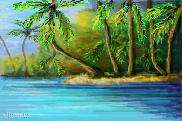 wild beach landscape speedpaint