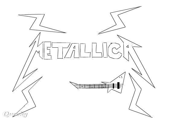 Metallica Logo ← a music Speedpaint drawing by